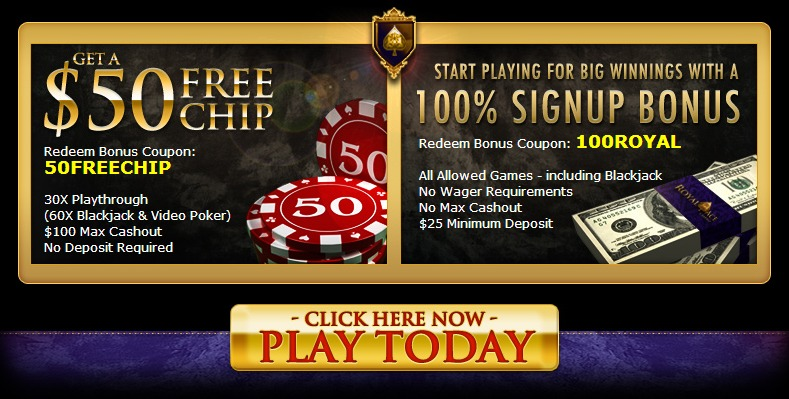 Royal Ace Casino No Deposit Bonus