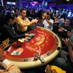 casino gamblers playing a game
